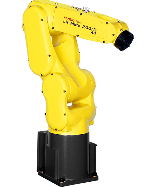 The LR Mate 200iD is a compact six-axis mini robot with the approximate size and reach of a human arm. Slim arm minimizes interference to peripheral device and allows operation in narrow space.