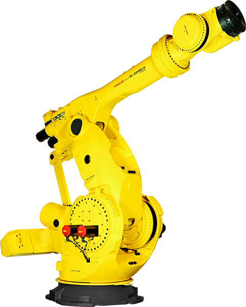 The Super Heavy Payload FANUC M-2000iA Robot Has a payload capacity range of 900kg ‒ 2300kg. Four models are available to meet a variety of applications.