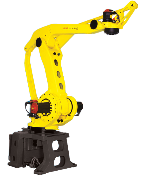 The M-410iC series is the ideal intelligent soution for automation of palletizing systems. Two models are avalible to meet the needs of speed and payload.