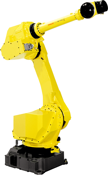 The M-710iC is a medium payload robot with a wrist payload of 12 - 70kg. Seven models are available for a wide variety of applications.