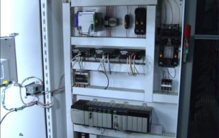 Automation PLC open showing circuitry and switches