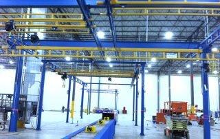 Gorbel Enclosed Track Workstation Bridge Crane with Hoists