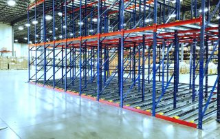 Interlake Mecalux pallet rack installation in a new warehousing facility