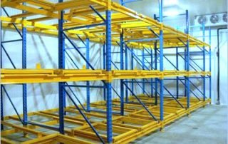 Interlake Mecalux push back pallet rack