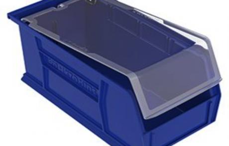 Plastic stackable industrial storage bin