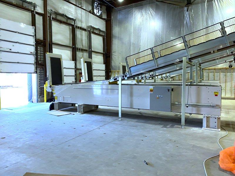 SRS Santa Rosa Systems Telescopic Conveyors installation