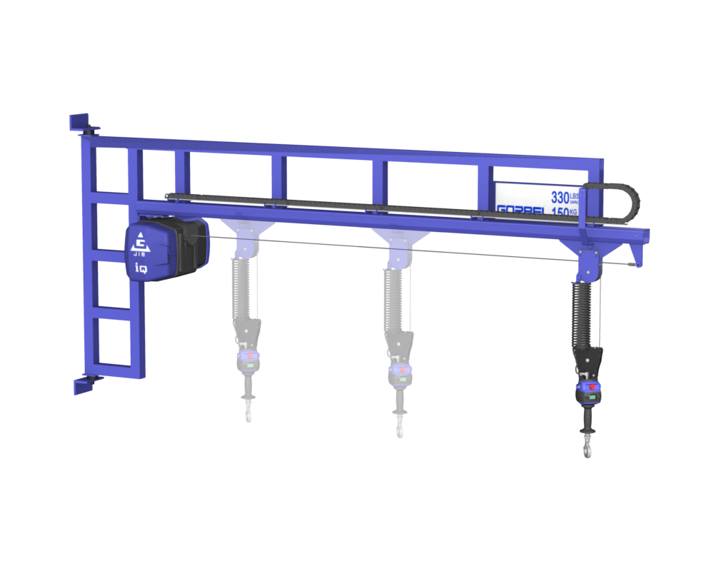 3D Model of Gorbel Wall Mounted Jib Crane with G-Force Lift