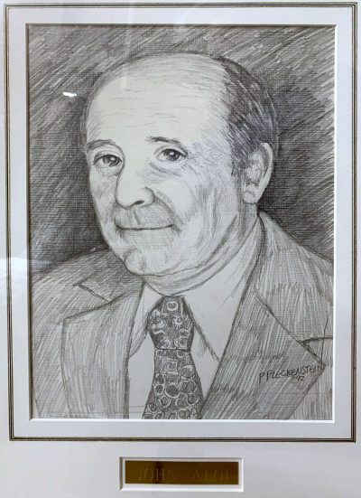 Sketch of John Aloi, the founder of Aloi Materials Handling.