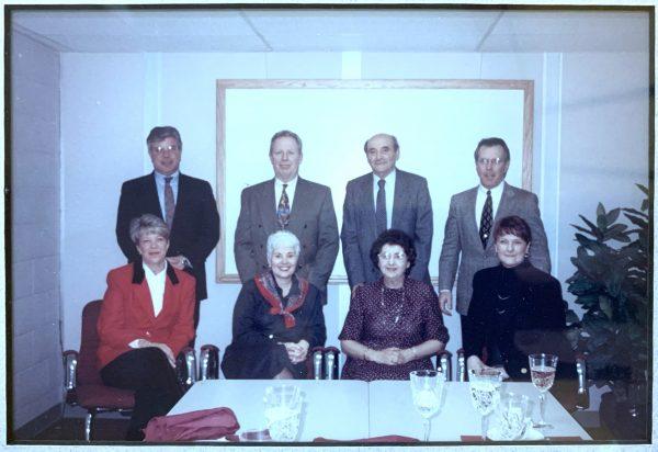 The Skivingtons with the Alois after John Aloi transitions ownership of Aloi Materials Handling to John Skivington.