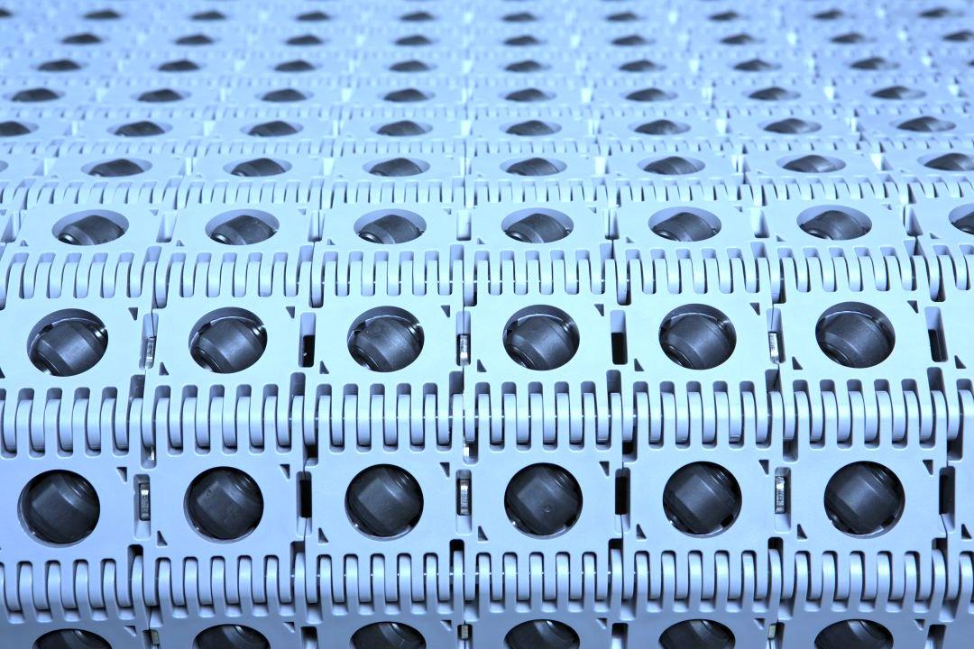 Dorner Activated Roller Belt Conveyor (ARB) close up view