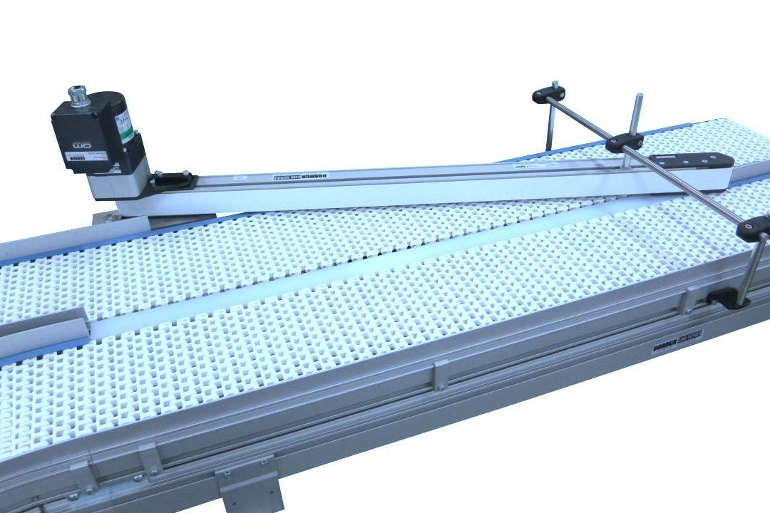 Dorner Powered Diverter on 2 lines of conveyor